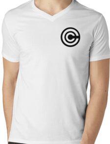 DBZ Capsule Corp Sticker Mens V-Neck T-Shirt