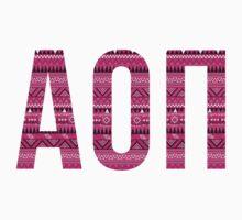 alpha omicron pi pink aztec tribal print by lordofthefries