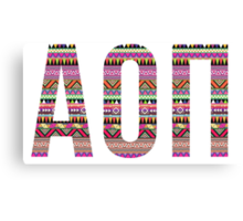 alpha omicron pi pink tribal print Canvas Print