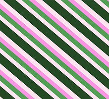 Pink Roses in Anzures 1 Stripes 4D by Christopher Johnson