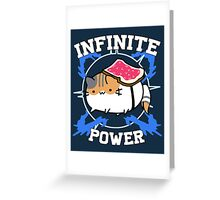 Infinite power - vr.1 Greeting Card