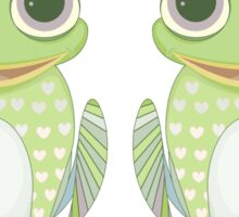 Two Frogs With Crowns Sticker
