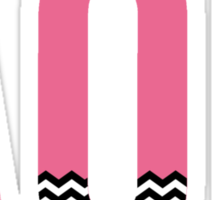 alpha omicron pi chevron print Sticker
