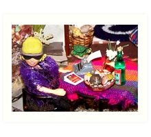 Home Office (Scene from a Miniature) Art Print