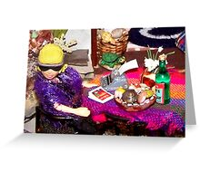 Home Office (Scene from a Miniature) Greeting Card