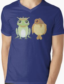 Frog & Fish Mens V-Neck T-Shirt