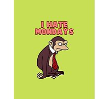 Monday Monkey Lives For The Weekend, Sir. Photographic Print