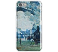 Claude Monet - Arrival of the Normandy Train, Gare Saint Lazare (1877)  iPhone Case/Skin