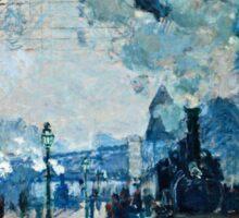Claude Monet - Arrival of the Normandy Train, Gare Saint Lazare (1877)  Sticker