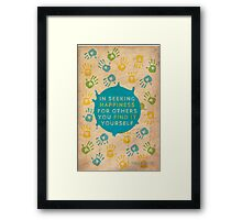 Helping others... Framed Print