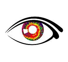 Tie Dye Eye  Photographic Print