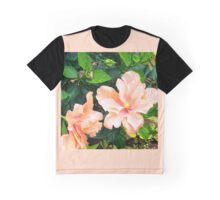 Peach/coral flowers Graphic T-Shirt
