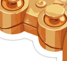 gold gamepad Sticker