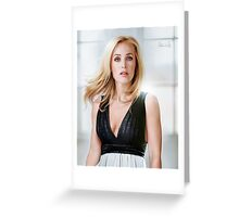 Creative portrait of Gillian Anderson Greeting Card