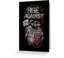 Rise Against Gas Masks Poster Greeting Card
