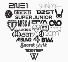 Kpop Group logos  Kids Tee