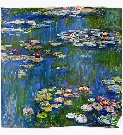 Claude Monet - Water Lilies (1916)  Poster