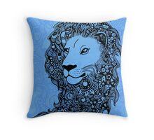 Lion Illustration Throw Pillow