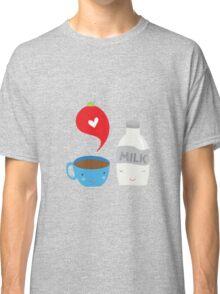 Coffee loves milk Classic T-Shirt