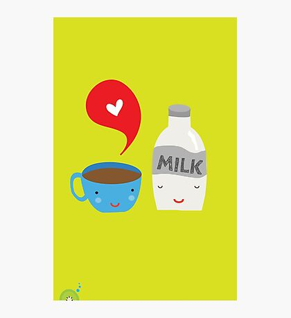 Coffee loves milk Photographic Print