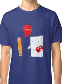 Pencil + paper Classic T-Shirt