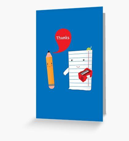 Pencil + paper Greeting Card