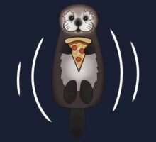 Sea Otter with Pizza Kids Tee