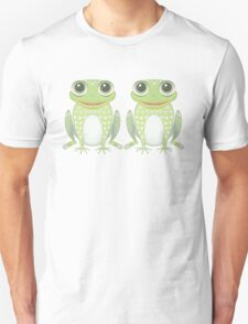 Happy Twin Frogs Unisex T-Shirt