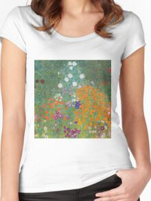 Gustav Klimt - Flower Garden, 1905-07 Women's Fitted Scoop T-Shirt