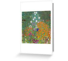 Gustav Klimt - Flower Garden, 1905-07 Greeting Card