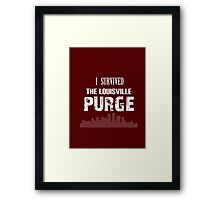 Purge Survival Souvenir Shirt Framed Print