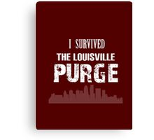 Purge Survival Souvenir Shirt Canvas Print