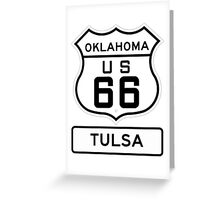 Historic Route 66 - The Mother Road - Tulsa Oklahoma Greeting Card