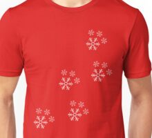 Snowflake Pawprints  Unisex T-Shirt