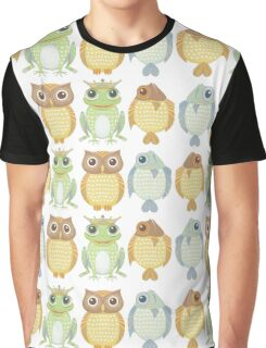 Owls Fish Frogs  Graphic T-Shirt