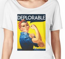 DEPLORABLE DEPLORABLES TRUMP CLINTON ROSIE THE RIVETER Women's Relaxed Fit T-Shirt
