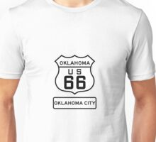 Historic Route 66 - The Mother Road - Oklahoma City Unisex T-Shirt