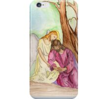 An Angel Ministers to Jesus  iPhone Case/Skin