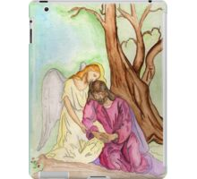 An Angel Ministers to Jesus  iPad Case/Skin