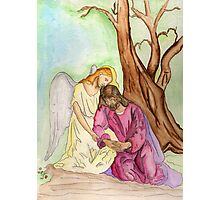 An Angel Ministers to Jesus  Photographic Print