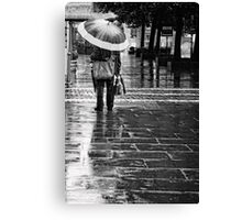 umbrella salesman Canvas Print
