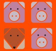 3 little pigs square Kids Clothes