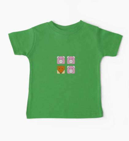 3 little pigs square Baby Tee