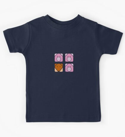 3 little pigs square Kids Tee