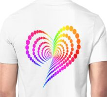 Rainbow Heart Unisex T-Shirt