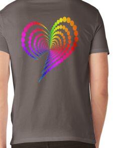 Rainbow Heart Mens V-Neck T-Shirt