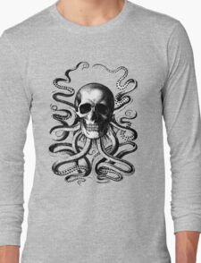 Octopus Skull Long Sleeve T-Shirt