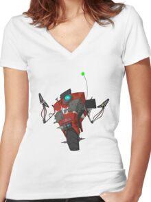 Badass Claptrap Sticker Women's Fitted V-Neck T-Shirt
