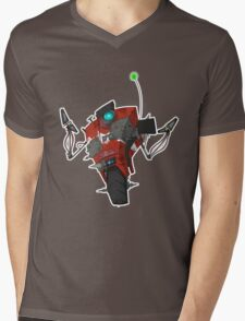 Badass Claptrap Sticker Mens V-Neck T-Shirt