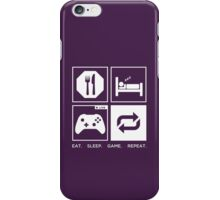 Eat. Sleep. Game. Repeat. iPhone Case/Skin